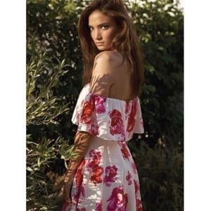 Gorgeous floral summer gown.  Flowing fabric.